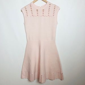 Ted Baker Light Pink Zaralia Ribbed Dress